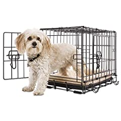 Classic 2-Door Crate from Petco Slide out plastic pan for easy cleaning Features a baked powder coat finish Two doors offers you more placement options and the ability to create a more open space for your pet A puppy divider is included in sizes Smal...