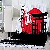 ZFSZSD Wohndecke Eindrücke von Japan Kuscheldecke Sofadecke Felldecke Decke Tagesdecke Lammfelldecke 27.5x39 inch