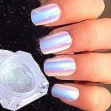 1g polvo uñas purpurina unicornio pigmento espejo holográfica cromo glitter...