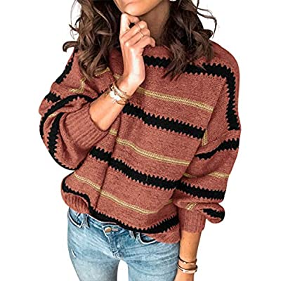 Amazon - Save 60%: Margrine Women's Sweaters Casual Long Sleeve Crewneck Color Bl…