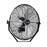 "NewAir 20"" Outdoor High Velocity Wall Mounted Fan with 3 Fan Speeds and Adjustable Tilt Head, NIF20WBK00"