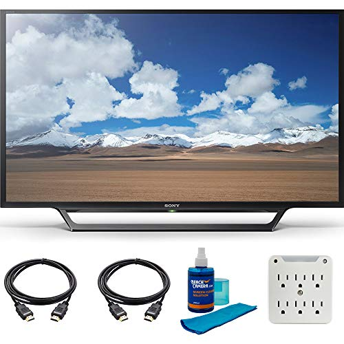 Sony KDL-32W600D 32-Inch Class HD TV with Built-in Wi-Fi Accessory Bundle with Television, Screen Cleaning Kit, Power Strip with Dual USB Ports and 2 HDMI Cables