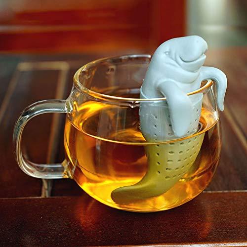 CFLL Setaccio Filtro tè Infuser tè Infuser Teekugel, Design Moderno, Carino Seekuh di Silicone di Alta qualità 100% BPA-Libera, nella Sua Confezione Originale,
