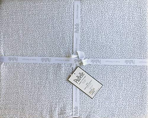 Piubelle Portugal Matelasse Tagesdecke, kleine schwarze Punkte auf weißem Hintergr&, glatter gesäumter Rand, King-Size-Größe