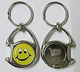 """1 Multifunktions-Schlüsselanhänger inkl. 3D-Aufkleber - Flaschenöffner + Einkaufswagen-Chip """"Smiley"""""""
