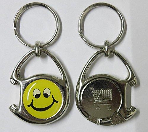 1 Multifunktions-Schlüsselanhänger inkl. 3D-Aufkleber - Flaschenöffner + Einkaufswagen-Chip