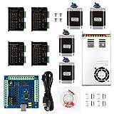 SainSmart CNC 4-Axis Kit with TB6600 Driver ST4045 & Nema23 270oz-in Stepper Motor, USB Controller Card, Nema23 Stepper Motor and 36V Power Supply
