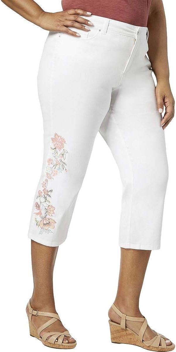 Charter Club Womens Plus Denim High Rise Capri Jeans (24W)