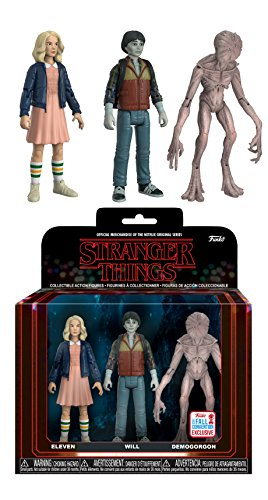 Funko Action Figures: Stranger Things Eleven Will & Demogorgan Fall Convention Collectible (3 Pack)
