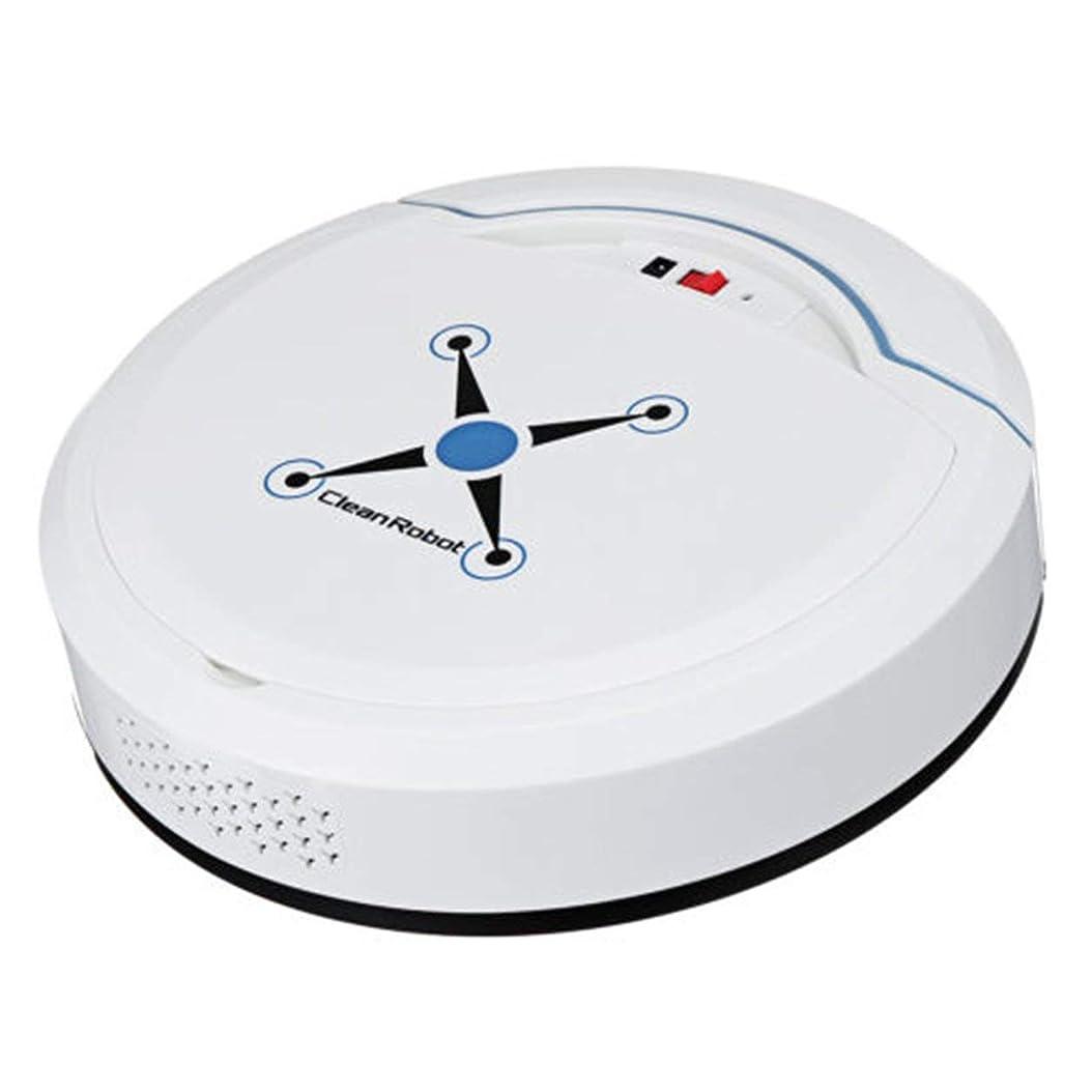 刺激する設置人柄Saikogoods 充電式 自動清掃ロボット スマート掃くロボット 真空フロアクリーナー ホーム掃くマシン 白