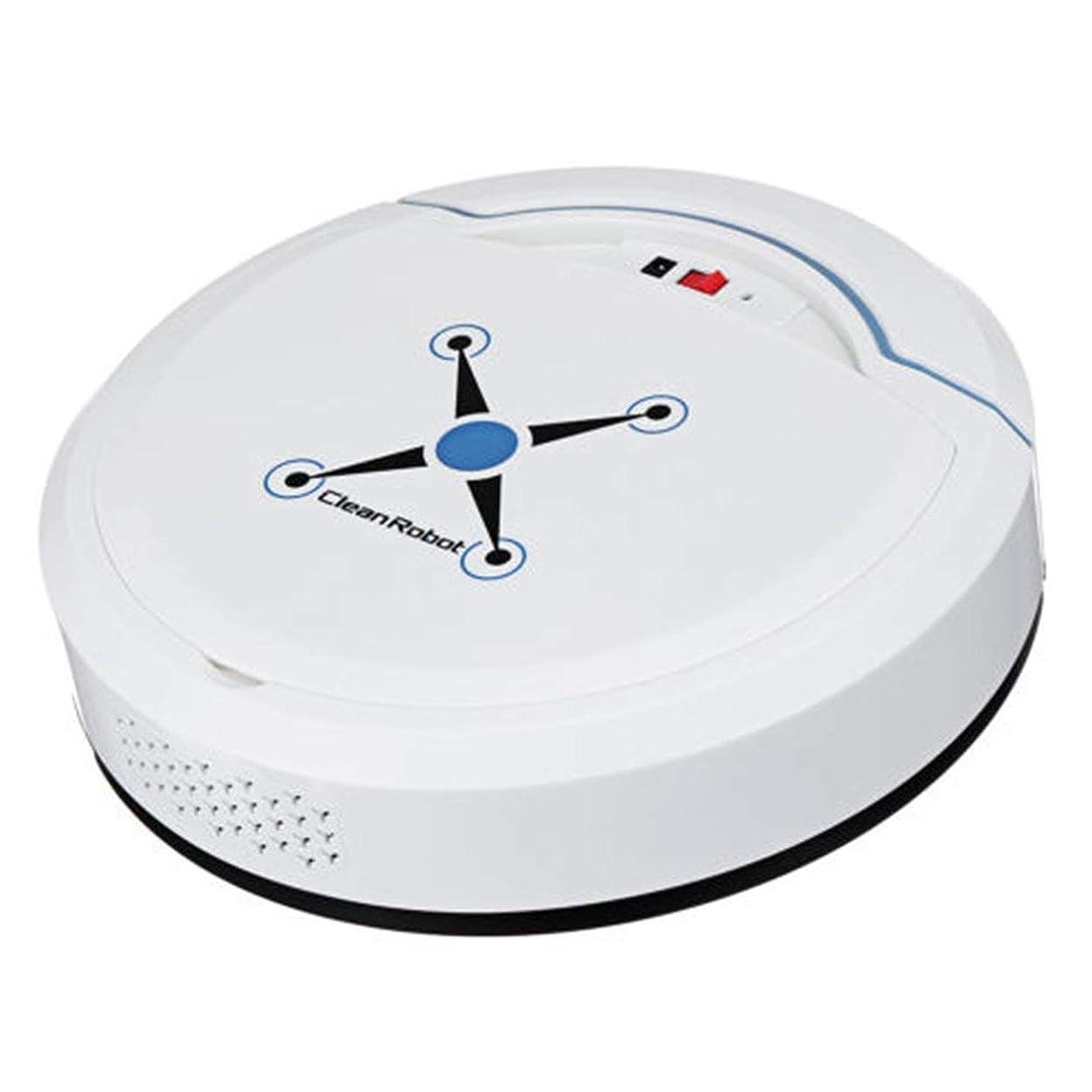 靴哀不一致Saikogoods 充電式 自動清掃ロボット スマート掃くロボット 真空フロアクリーナー ホーム掃くマシン 白