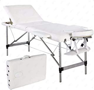 3 Pad Facial Massage Bed Table Chair Adjust Height Beauty Spa Salon Tattoo White