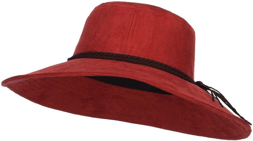 Wide Brim Poly Suede Dallas Mall Hat Special price