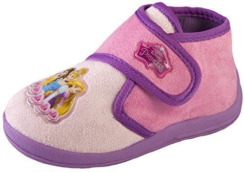 Disney Princess Mädchen Hausschuhe, Pink - Disney Prinzessin Rosa Violett - Größe: 23 EU
