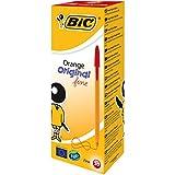 BIC 1199110112 Orange Original Fine bolígrafos punta fina (0,8 mm) - Rojo, Caja de 20 unidades