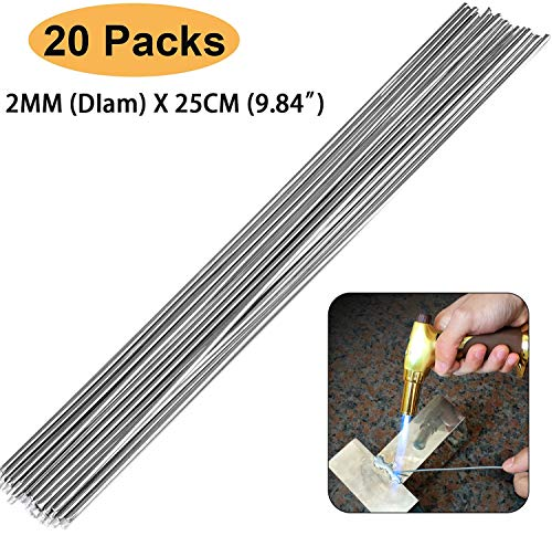 Elecxlink Copper Aluminum Welding Rods, 20-Pack 9.8in (25cm) Universal Low Temperature Copper Aluminum Welding Cored Wire for Electric Power, Chemistry