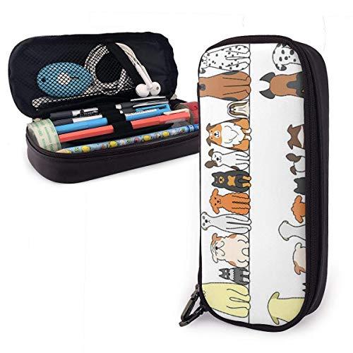 ZYWL Bürobedarf & Schreibwaren Federmäppchen Uppercase Jazz Cute Pen Pencil Case Leather 8 X 3.5 X 1.5 Inch Big Capacity Double Zippers Pencil Pouch Bag Pen Holder Box for School Office Girls Boys Adu
