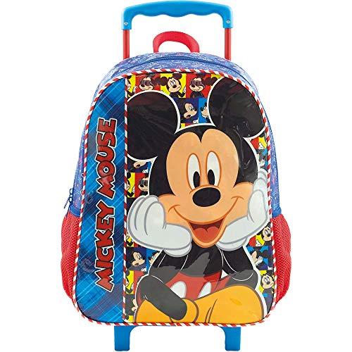 Mala Escolar com Rodinhas 14, Mickey, 8951, Azul