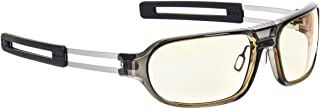 Gunnar Trooper Computer and Gaming Glasses with Light Amber Tinted Lenses and Adjustable Nose Pads - Smoke Amber