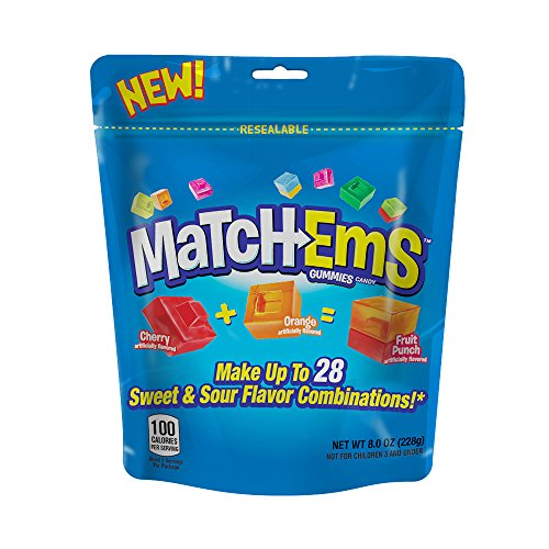 Bazooka Matchems Gummies Candy, 8oz