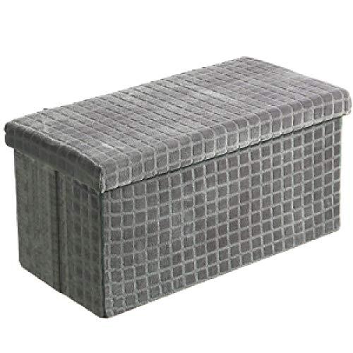 FTFTO Haushaltsprodukte Flanell Klappbarer Aufbewahrungshocker Sofa...