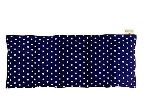 Kissenscheune Körnerkissen Natur Wendekissen Sterne Sterne klein marine navy blau 50x20cm Wärmekissen Baumwolle