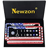 Newzon personalized bling license plate frames