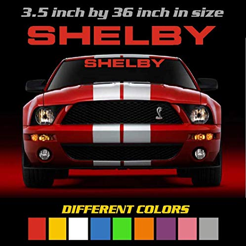 Different Colors Ford Shelby Windshield Banner / Decal / Sticker / Emblem Mustang / Boss / GT / Saleen