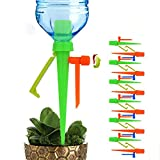 XCVXCV Universal Plant Self Watering Spikes Devices Anti-Down Plant Waterer Automatic Irrigation Spikes System with Slow Release Control Valve Switch System Suitable for All Bottles-12 Pack