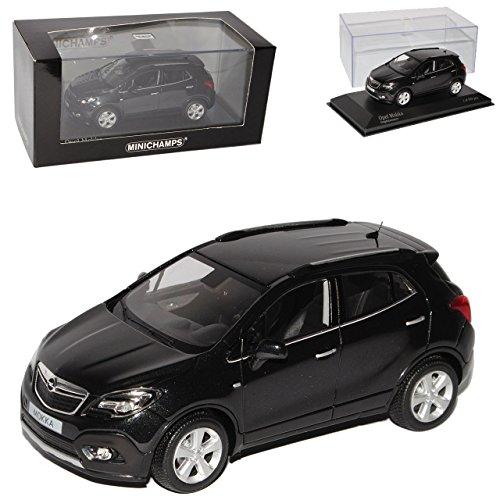 Opel Mokka Schwarz SUV Ab 2012 1/43 Minichamps Modell Auto mit individiuellem Wunschkennzeichen