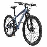 BIKESTAR Bicicleta de montaña Suspensión Doble Completa 26 Pulgadas | Cuadro 15' Cambio Shimano de 21 velocidades, Freno de Disco, Fully MTB Azul
