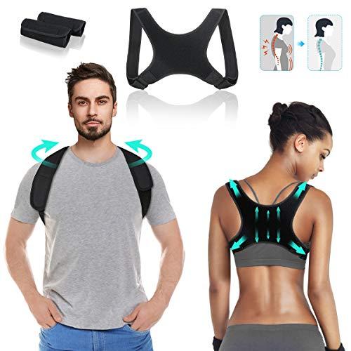 Haltungskorrektur - LIUMY Rücken Geradehalter - Haltungskorrektur Rücken für Herren und Damen - Atmungsaktiv & leicht Geradehalter für Rücken, Wirbelsäule und Nacken- schwarz, weiche,verstellbar
