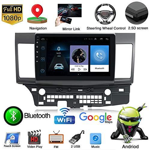 Android Car Stereo Pantalla táctil de 10 Pulgadas Navegación GPS Quad Core para Mitsubishi Lancer Bluetooth Car Support FM Radio Receiver/WiFi/USB Input/SWC/Mirror Link/Rear View Camera,WiFi 1G 16G