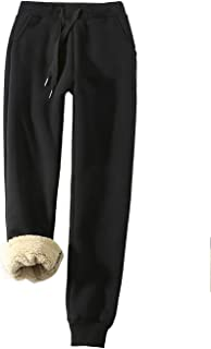 Women's Warm Sherpa Lined Athletic Sweatpants Jogger...