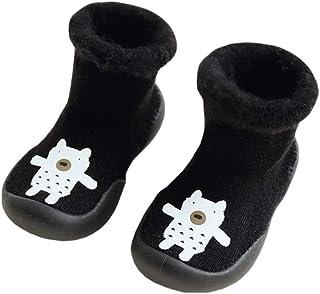 YiyiLai Baby Toddler Thick Velvet Anti Slip Solid Rubber Sole Shoes Socks