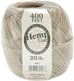 One Package of 400 feet 100% Natural Hemp Cord #20