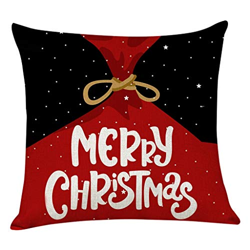 Heetey Weihnachten Home Decor, Wohnkultur Kissenbezug Frohe Weihnachten Kissenbezug Christmas Decoration bettwäsche Hirsch Sofa Cover bettwäsche Weihnachten deko Kissen Sofa Dekokissen Abdeckungen