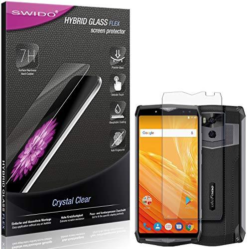 SWIDO Panzerglas Schutzfolie kompatibel mit Ulefone Power 5 Bildschirmschutz-Folie & Glas = biegsames HYBRIDGLAS, splitterfrei, Anti-Fingerprint KLAR - HD-Clear