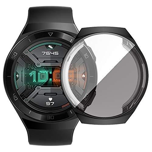 BZN Smart Watch Case per Huawei GT2e Plating TPU Shell Protettiva all-Inclusive (Color : Black)