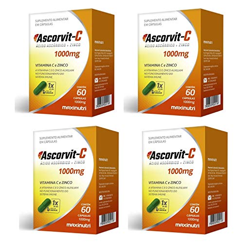 Ascorvit-C Vitamina C e Zinco 1000mg 60 cápsulas Maxinutri