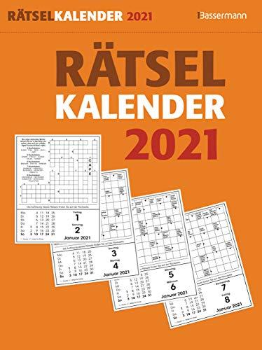 Rätselkalender 2021. Der beliebte Tagesabreißkalender für alle Rätselfreunde