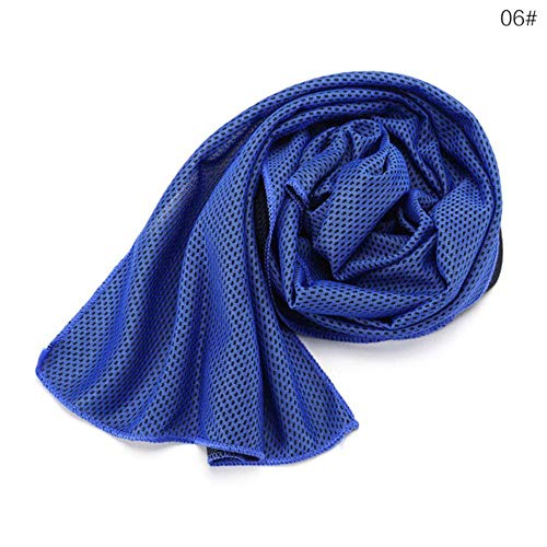 LASISZ Multicolor Sports Face Towel Cooling Ice Utility Enduring Instant Cozy Ice Cold for Enduring Running Jogging Gym 90 * 30cm,Light Blue