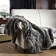 """Blanket Size : 60""""X80"""" inch--Single 6.5 Weight Pounds Hand Wash Suggested, line Dry in Shade This Faux fur Blanket is incredibly soft and plush with natural luster,Indulge yourself with cozy warmth and luxurious comfort Luxurious &Elegant: This beaut..."""