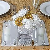 Efavormart 12' Square Glass Mirror Wedding Party Table Decorations Centerpieces - 4 PCS