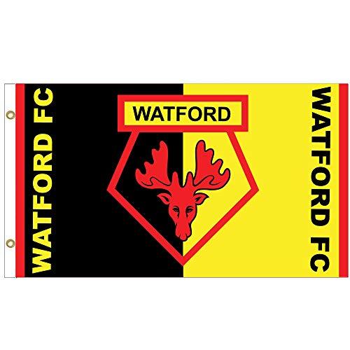 Giant Watford FC Crest Premier League Flag (5ft x 3ft & 100% Polyester)