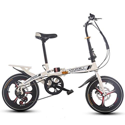 HIKING BK Faltrad 16 inch Damen Variabler Geschwindigkeit Stoßdämpfer Erwachsenen Super licht Student kinderfahrrad Mit Korb-A 107x120cm(42x47inch)