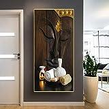 KWzEQ Antikes Wandkunst-Buddha-Druckkunstplakatbild auf Leinwandwohnheimdekoration,Rahmenlose...