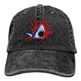 Agoyls Gorra Trucker Cap Gorra bisbol Transpirable Big Shark Mouth Creative Baseball Caps Denim Adjustable Lightweight Breathable Soft Hats