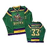 NHICR Ropa deportiva de hockey sobre hielo para hombre, bordado de hockey sobre hielo, ropa de manga larga, uniformes de calidad profesional ropa deportiva verde-S