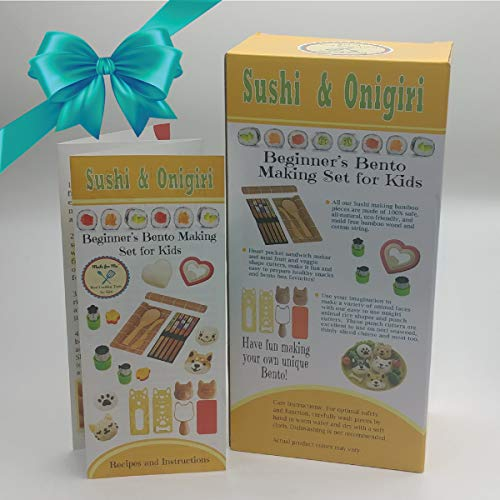Sushi & Onigiri - Beginner's Bento Making Gift Set for Children with Online Virtual Class Tutorials!! / from The Makers of Pancake Party Art Kits & Beginner's Kids Chef Knife!